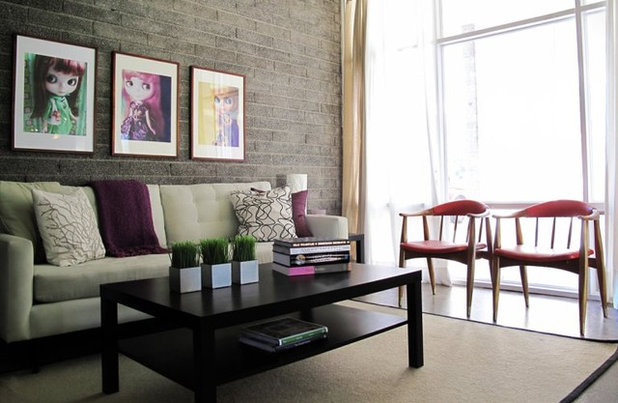 Contemporary Living Room by Chris Jovanelly Interior Design