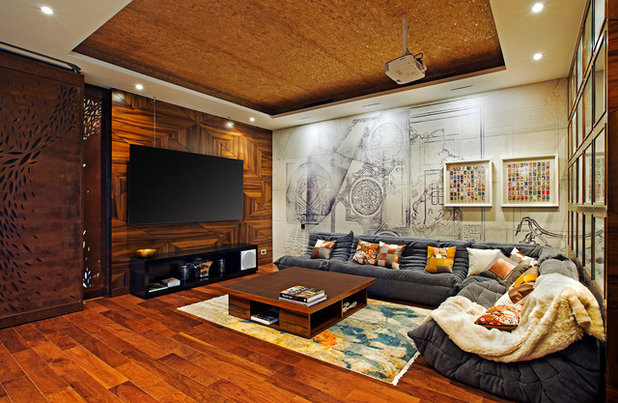 Contemporary Family Room by Shamanth Patil Photography