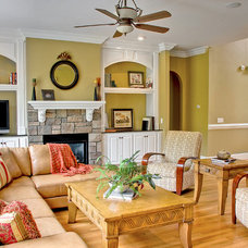 Traditional Living Room by Triad Real Estate Photography