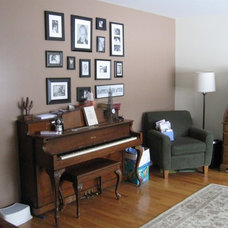 Eclectic Living Room Photo montage.