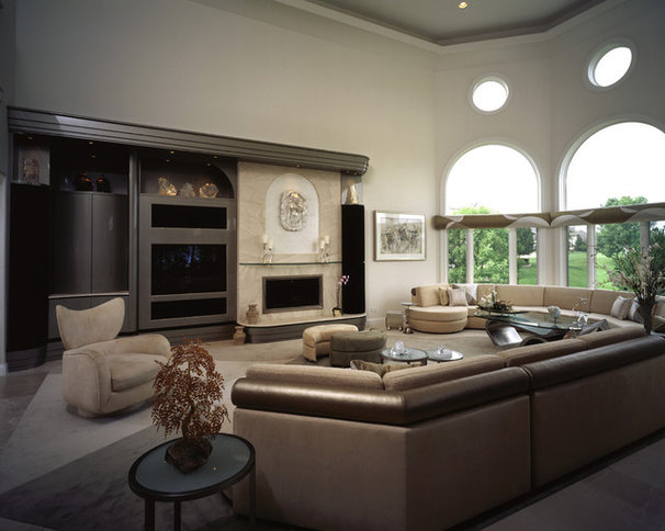 Contemporary Living Room by B. W. Interiors Chicago