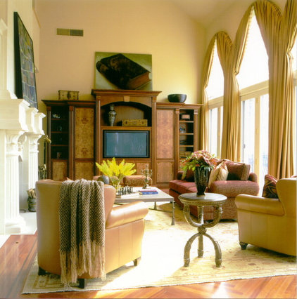 traditional living room by B. W. Interiors Chicago