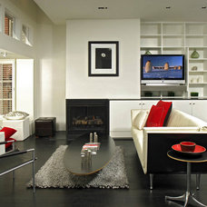 modern living room by Hughes Umbanhowar Architects