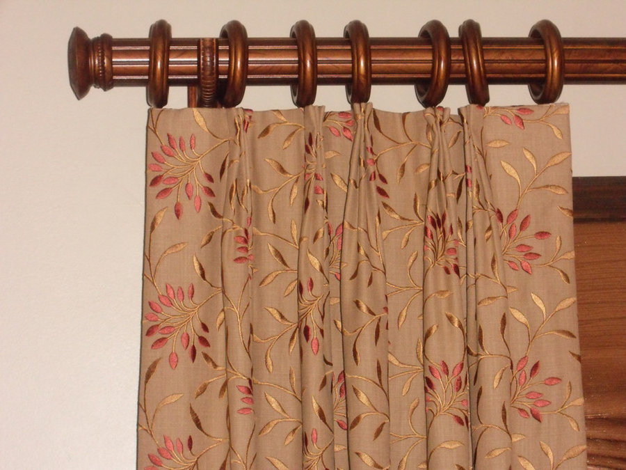 Phyllis' Slouch Roman Shades and Side Panels