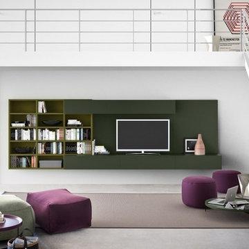 Pianca Limbo Sofa and Spazioteca Bookcase