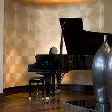 Transitional Living Room by John Kraemer & Sons
