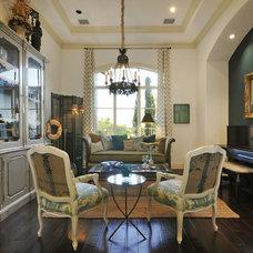 Eclectic Living Room by Van Wicklen Design