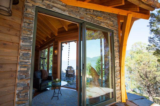 Rustic Living Room by Sayler | Owens | Kerr design studio