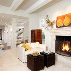 Contemporary Living Room by Horgan Millwork, Inc.