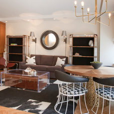 Rustic Living Room by Lily Z Design Inc.
