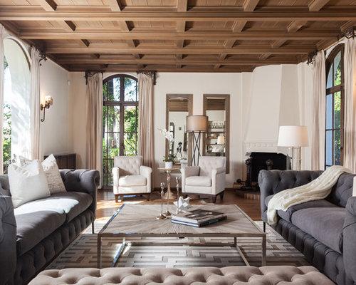 mediterrane wohnzimmer mit eckkamin ideen design bilder houzz. Black Bedroom Furniture Sets. Home Design Ideas