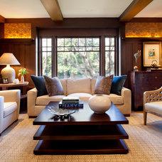 Contemporary Living Room by Kathleen Burke Design