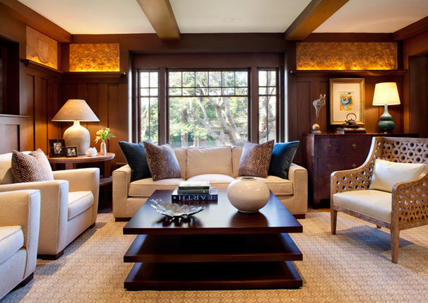 Contemporary Living Room by Kathleen Burke Design