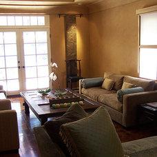 Mediterranean Living Room by pierre senechal