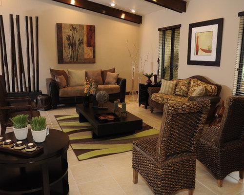 Asian miami living room design ideas remodels photos for Asian living room decorating ideas