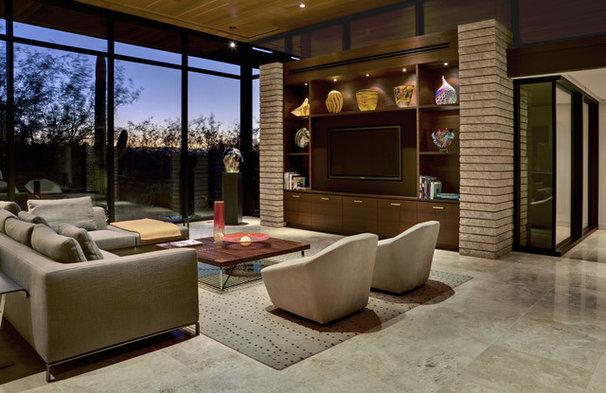 Contemporary Living Room by John Senhauser Architects