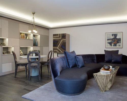 Led strip lights living room design ideas remodels for Living room ideas no fireplace