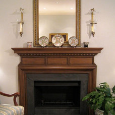 Traditional Living Room by Virginia W. Kelsey, AIA