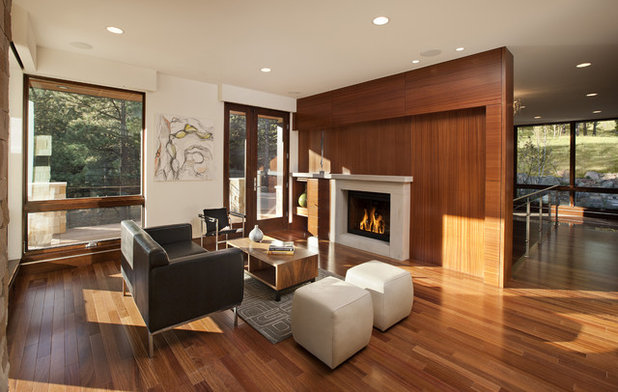 Modern Living Room by Mosaic Architects Boulder