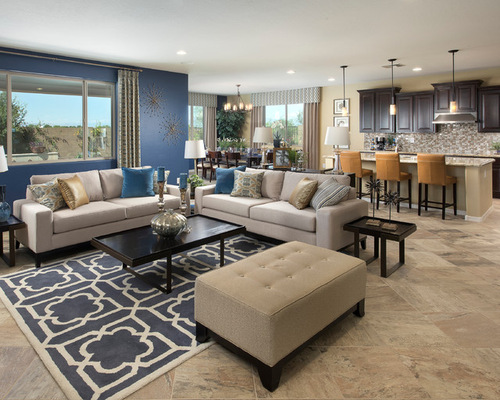 Good Blue Accents. An Open Dining Room Living ... Part 7