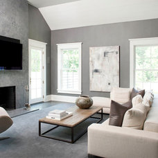 Contemporary Living Room by James Schettino Architects
