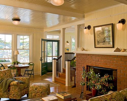 Beadboard Fireplace