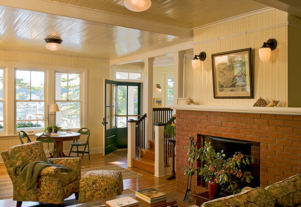 Traditional Living Room by Whitten Architects