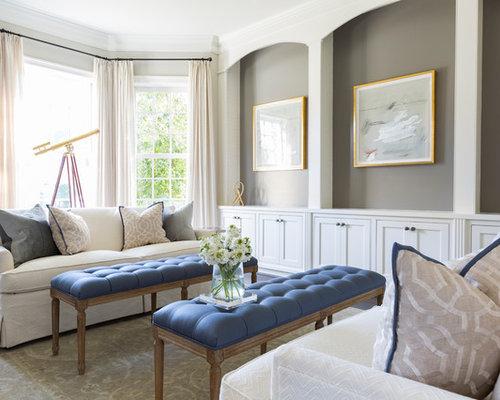Grande soggiorno shabby-chic style - Foto e Idee per Arredare