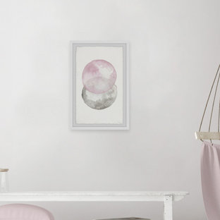 """""""Pinks and Grays"""" Framed Painting Print"""