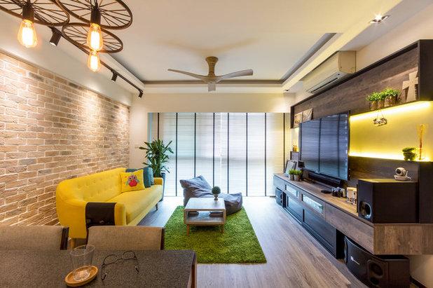 Contemporary Living Room by Fineline Design Pte Ltd