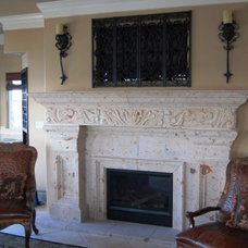 Traditional Living Room by Rustico Tile and Stone