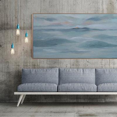 Beach Style Living Room by Planinsek Art