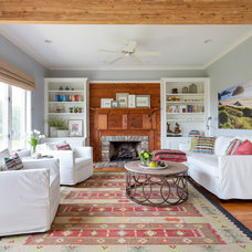 Beach Style Living Room by Diament Builders