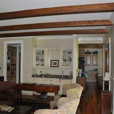 Craftsman Living Room by Bob Chatham Custom Home Design