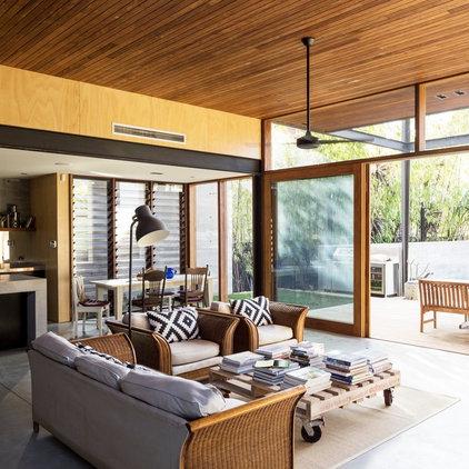 Contemporary Living Room by Walter Barda Design