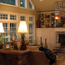 Traditional Living Room by House Plans and More