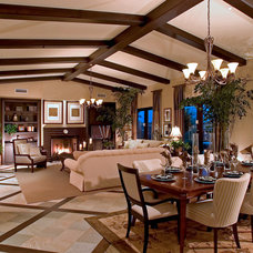 Mediterranean Living Room by Camelot Homes