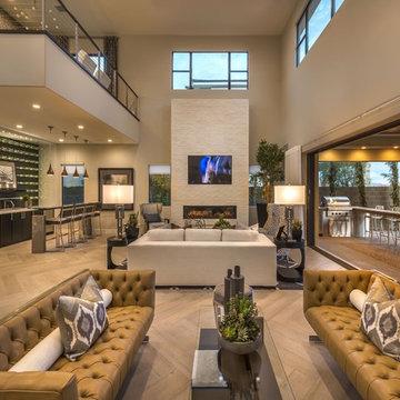 Plan 2 Great Room at Lago Vista at Lake Las Vegas