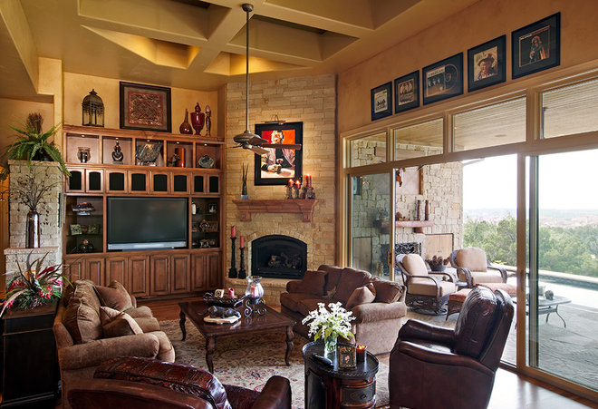 Traditional Living Room by Sterling Custom Homes