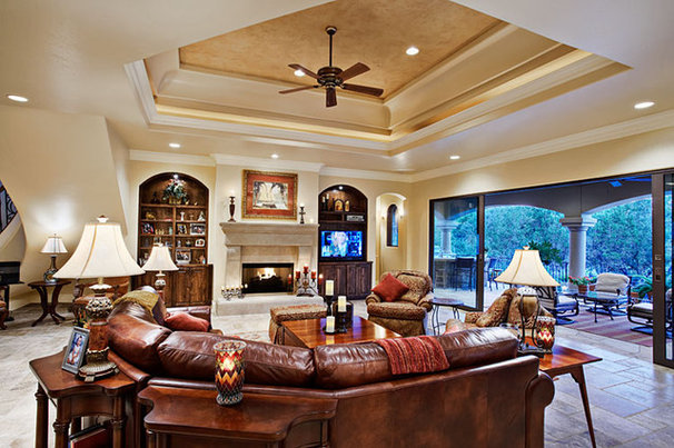 Mediterranean Living Room by Sterling Custom Homes