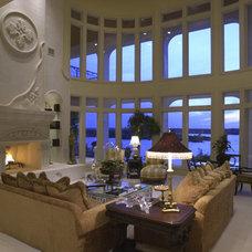 Mediterranean Living Room by Sterling Custom Homes