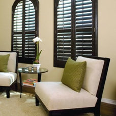 Contemporary  by Ford Shutters Shades and Draperies