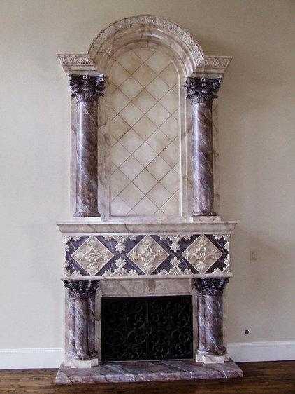 Mediterranean Living Room by American Masonry Supply, Inc.