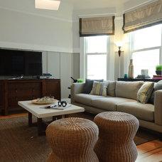 Beach Style Living Room by Regan Baker Design