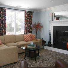 Traditional Living Room by Courtney Kleeman Design