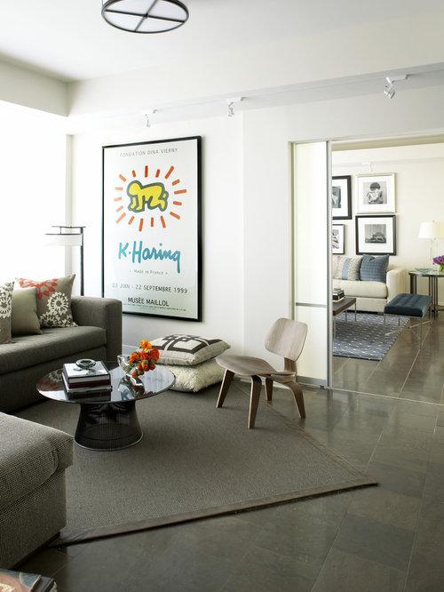 Inspiration For A Modern Enclosed Living Room Remodel In Atlanta