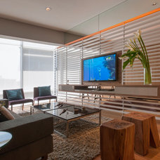Eclectic Living Room by vgzarquitectura y diseño sc