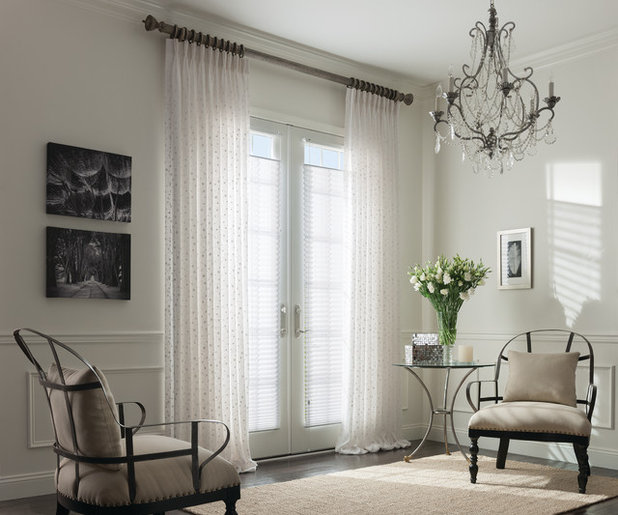 Shabby-chic Style Living Room by Shademaker Blinds and More
