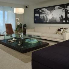 Contemporary Living Room by poggi design