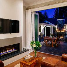 Craftsman Living Room by Rockridge Fine Homes